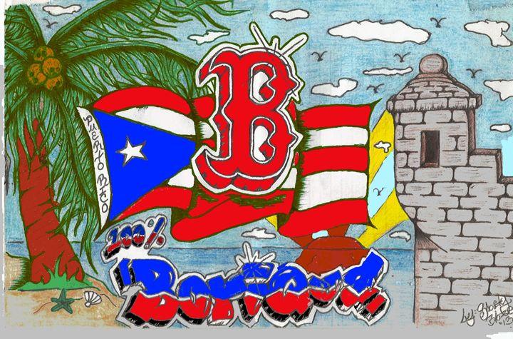 Boston Red Sox/Boricua - Aldalberto Rodriguez Custom ArtWork