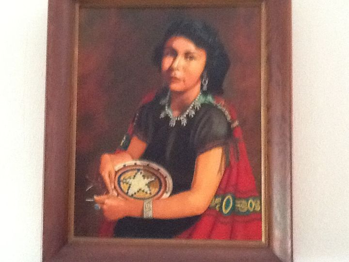 Navajo woman - Southwest art and pottery