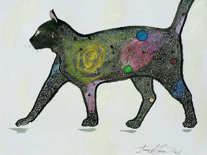 Wandering Black Cat - Artist_tiiicar