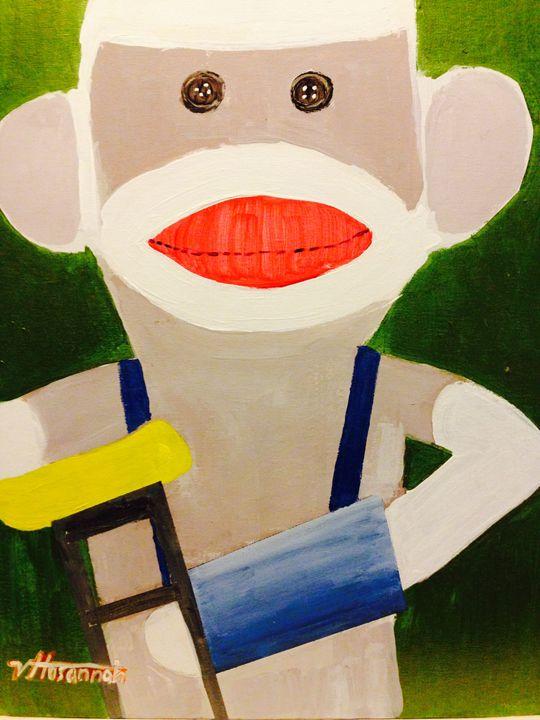 Sock It To Monkey - Hosannah Art