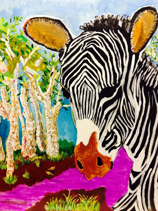 Zebra Nirvana - Hosannah Art