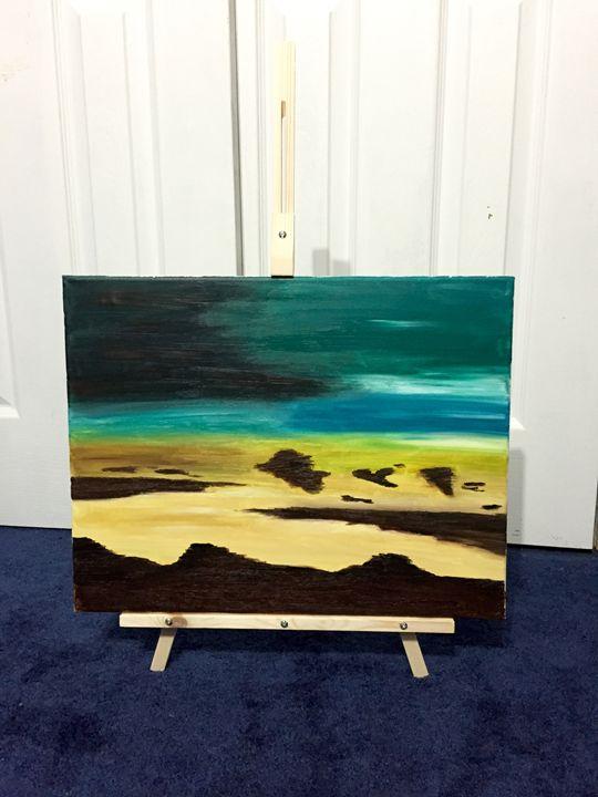 Sunset beach - Leigh's art