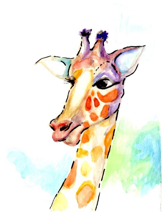 Giraffelocity - Art by Tea Silvestre Godfrey