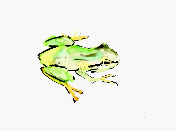 Teeny Tiny Tree Frog - Art by Tea Silvestre Godfrey