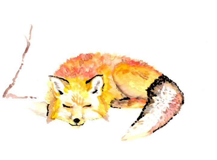 Lazy Fox - Art by Tea Silvestre Godfrey