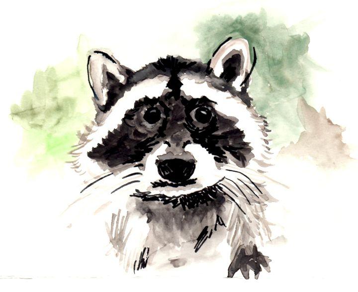 Rocky Raccoon - Art by Tea Silvestre Godfrey