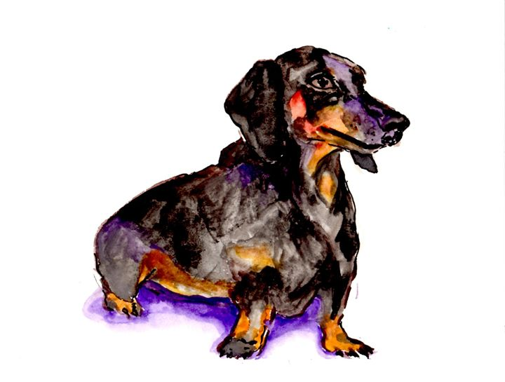 Weenie Dog - Art by Tea Silvestre Godfrey