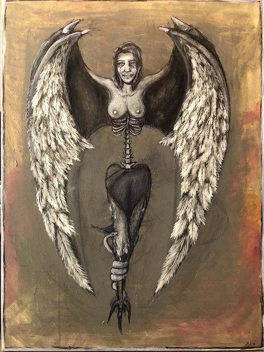 The Starving Harpy Jennifer Jacobitz Paintings Prints Fantasy Mythology Mythology Roman Other Roman Artpal