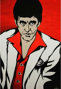 Scarface Painting - Stephanie R. Originals