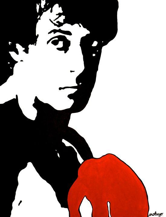 Rocky Balboa Original Painting - Stephanie R. Originals