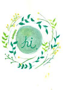 "Floral ""hi"" wreath"