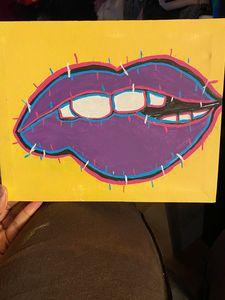 Glitched lips