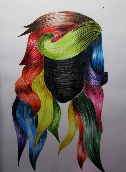 Multicoloured Hair - Tahlia paige