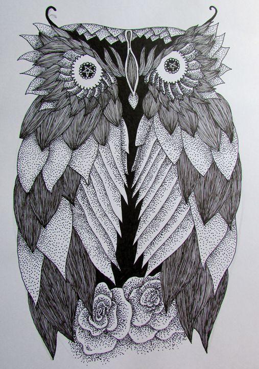 Owl Tattoo Design - Tahlia paige