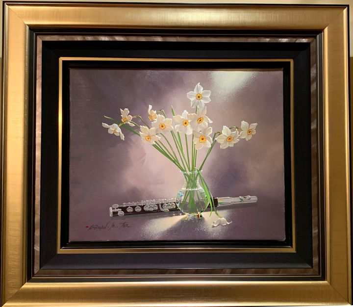 Flute and Daffodils - Michael Gorban Paintings