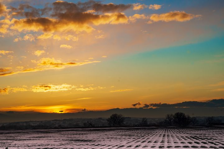 Cold Colorado Sunset - David Russell Photography