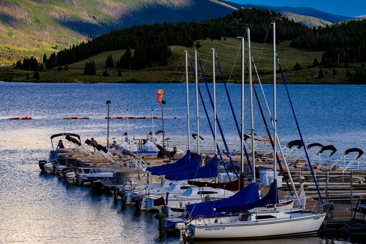 Sailboats in the Mountains - David Russell Photography