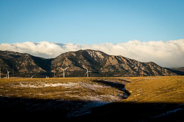 Flatiron Wind Turbines - David Russell Photography