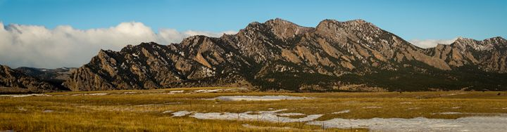 Flatirons Mountain Panarama - David Russell Photography