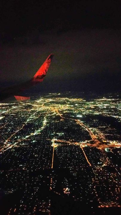 City Lights From Above - David Russell Photography