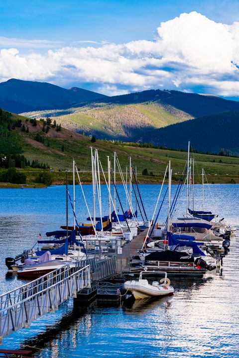 Boat Dock in the Mountains - David Russell Photography