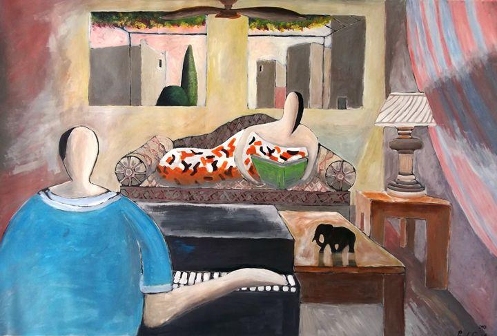 Piano Player - Paul Bokvel Smit Art