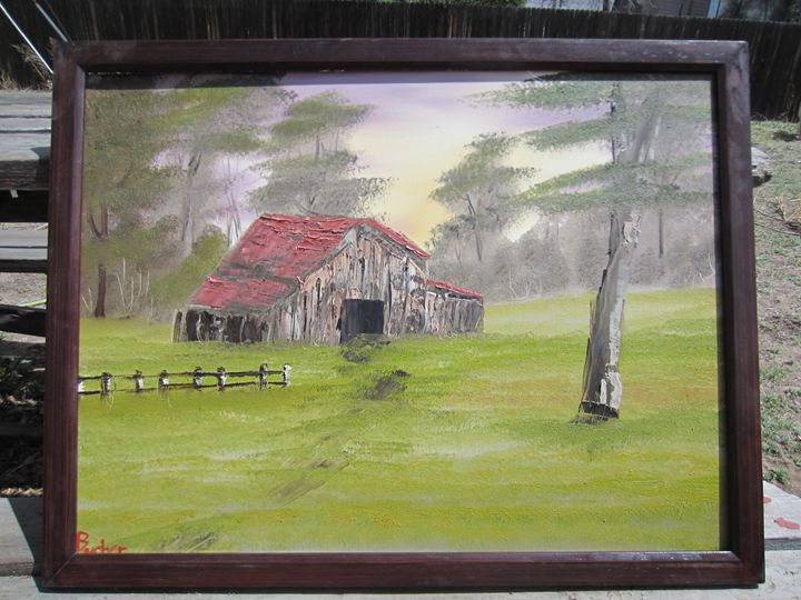 The Old Red Roof Barn - Stephen's Joy of Painting