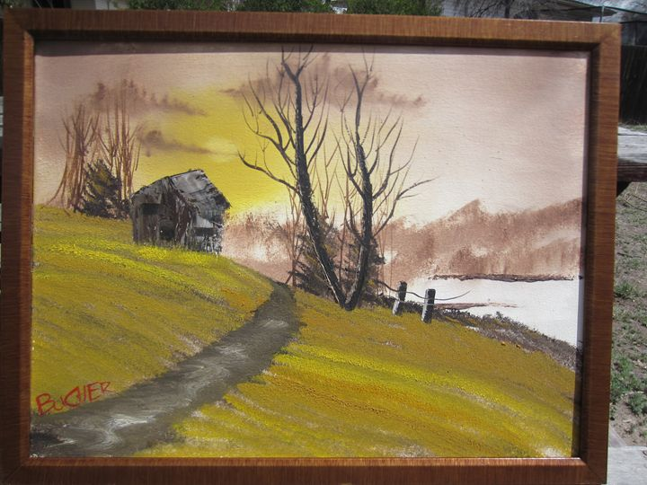 Old cabin on a hill - Stephen's Joy of Painting