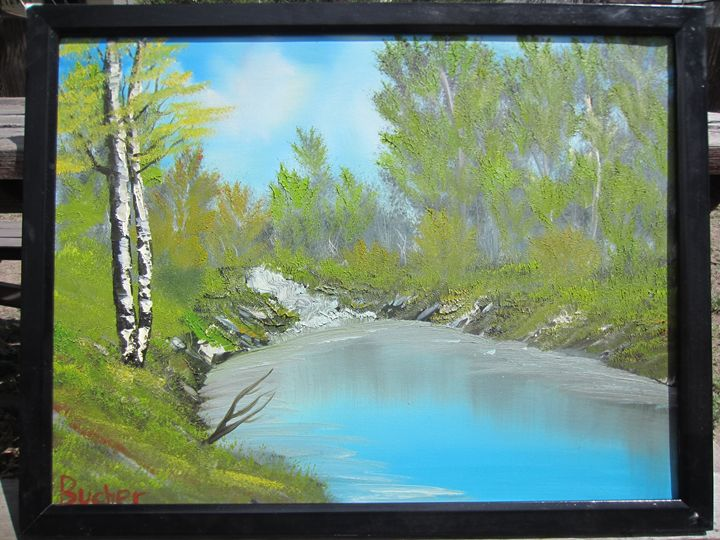 *SOLD* Summer peace - Stephen's Joy of Painting