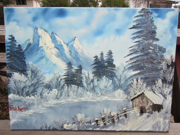 *SOLD* winter escape - Stephen's Joy of Painting