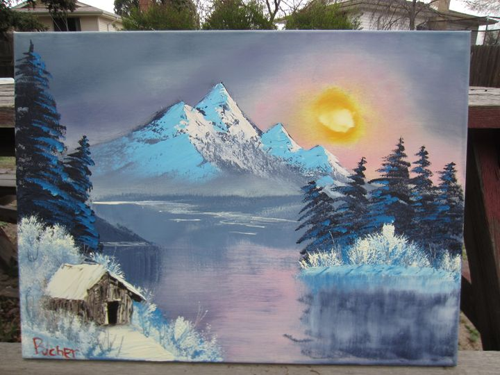 *SOLD* Cold burrough - Stephen's Joy of Painting