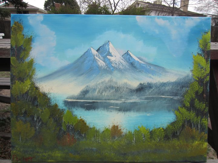 Mountain Lake - Stephen's Joy of Painting