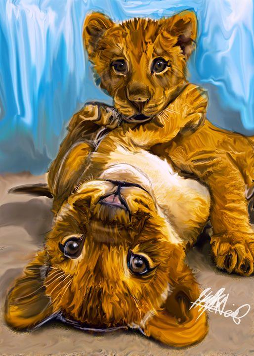 Lion Kittens - HMCNEILART