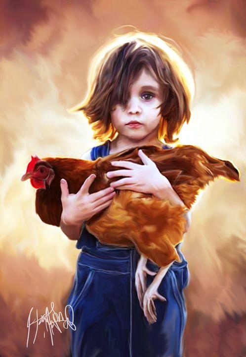 Boy and Chicken - HMCNEILART