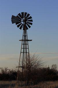 Kansas Country Windmill at Sunset