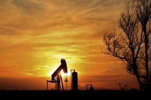 Oilwell Pump Sunset Silhouette