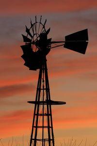 Kansas Windmill Silhouette.