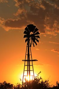 Kansas Golden Sky with a Windmill