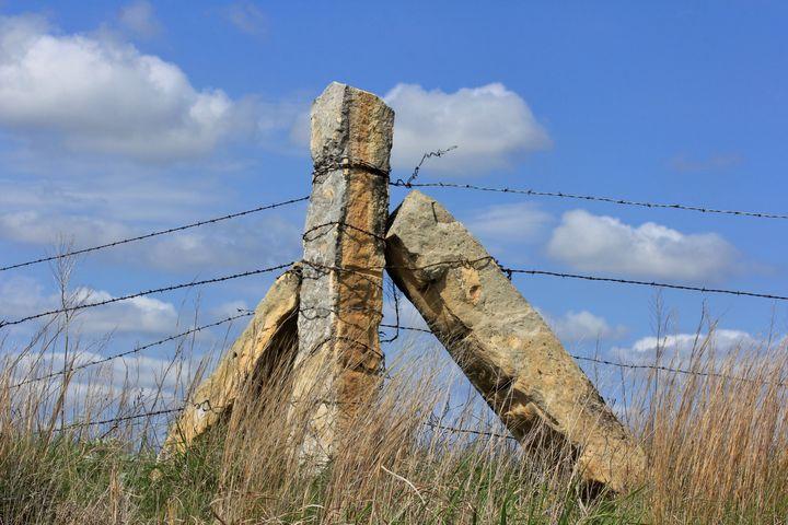 Kansas Country Corner stone post. - Robert D Brozek