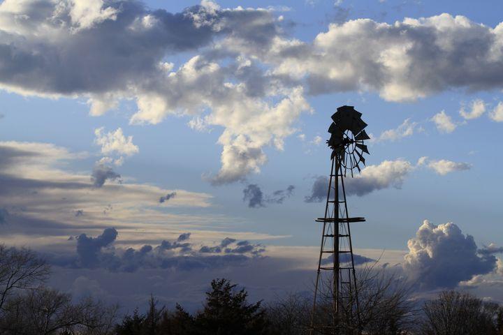 Kansas Sunset with Clouds. - Robert D Brozek