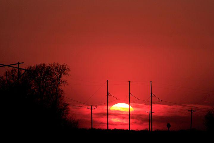 Kansas Red Sunset - Robert D Brozek