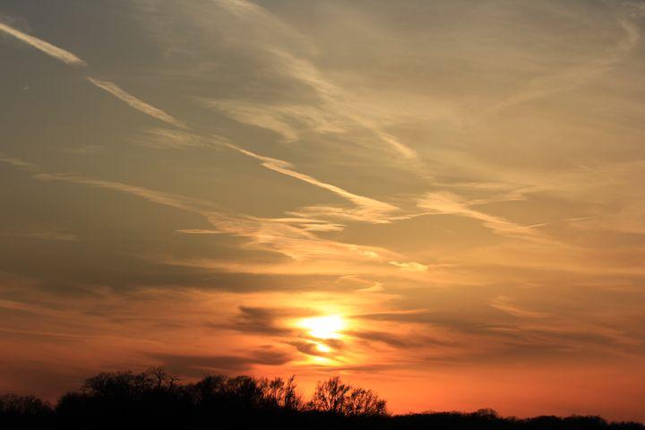 Kansas Sunset in the Evening - Robert D Brozek