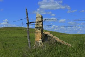 Kansas Lime Stone Fence Post