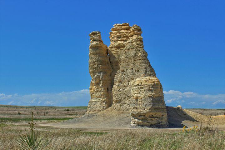 Kansas Castle Rock closeup with Sky - Robert D Brozek