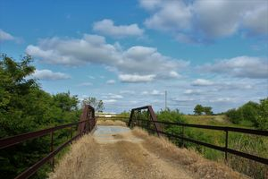 Kansas Country Bridge with blue sky