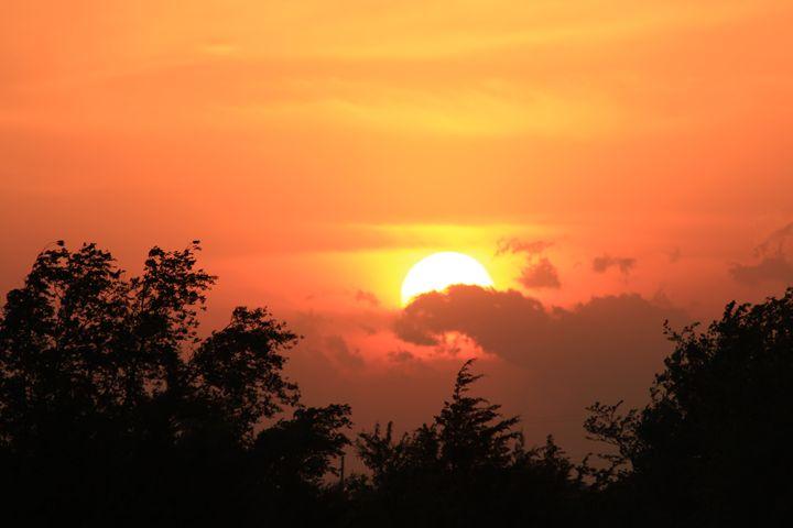 Kansas Golden Sunset - Robert D Brozek