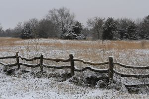Winter Wonderland with a fence