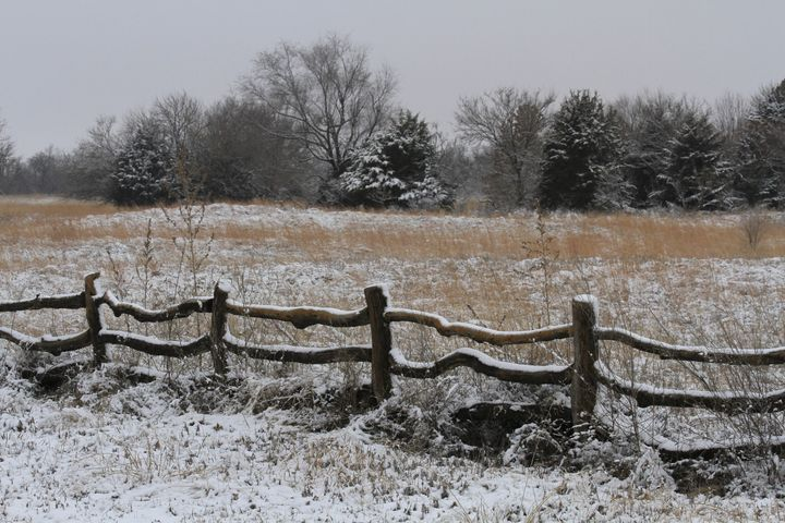Winter Wonderland with a fence - Robert D Brozek