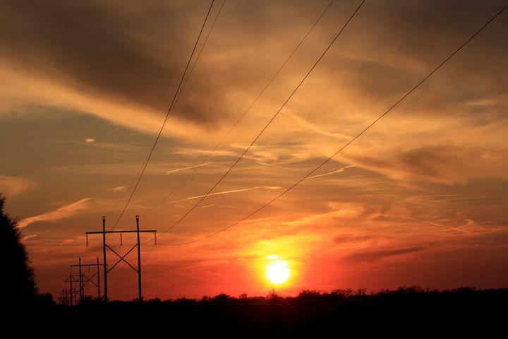 Kansas Colorful Sunset with Clouds - Robert D Brozek