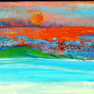 Untitled: The Sun, Mountains and Sea